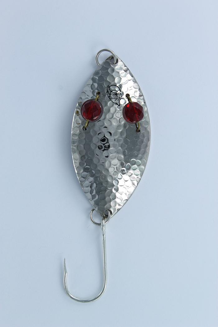Eppinger Red Eye Wiggler Hammered Single Barbless Hook