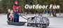 Snowdog - Sled with hitch and wear bars